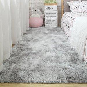 Carpets 3 Color 50x160cm Super Soft Carpet Gradient Fluffy For Living Room Bedroom Anti-slip Floor Mats Large Size Rugs