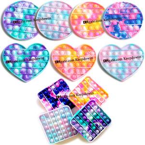 Push Pop Fidget Toy Bubble Sensory Autism Special Needs Stress Reliever It Squeeze Sensory Fidget Pack Cube Toy for Kids Family