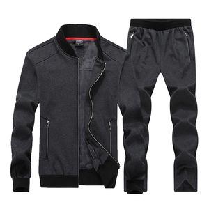 2021 New 7xl 8xl Big Size Sporting Suits Men Sportswear Sets Warm Clothes Fleece Fabric Male Winter Tracksuit Suit Mens XPLS