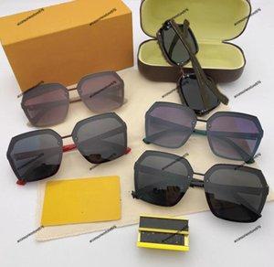 Top Quality de Alta Qualidade Frameless Marca Marca UV400 Designer AntireReflection Óculos de Sol Grande Quadro Quadrado Verão Óculos de sol