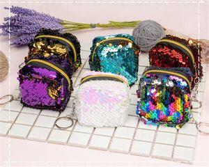 Square Pink Coin Purse Wallet Fashion Sequin Mini For Women Children Girl Small Handbag Clutch Purses Wholesale DD066
