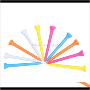 100 Pcs Pack Plastic Golf Tees Multi Color 6.9Cm 2.7Inch Durable Rubber Cushion Top Golf Ball Tee Golf Accessories A9Ypw Pmzbj