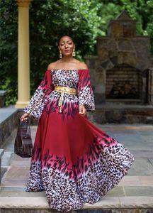 Digital Print Maxi Dresses Plus Size Women Clothing 2020 Womens Luxury Designer Dress Long