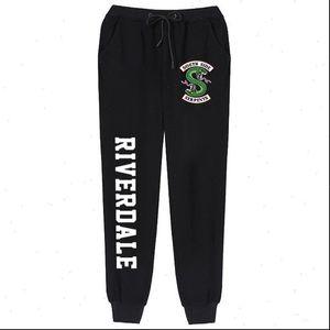 Riverdale Sweatpants Kadınlar Egzersiz Spor Pantolon Güney Yan Yılanlar Polar Uzun Rahat Pantolon Riverdale Yılan Grafik Joggers