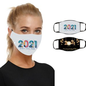 mask 2021 christmas happy face new year facemask masque adult washable reusable face masks CYZ2908 100Pcs