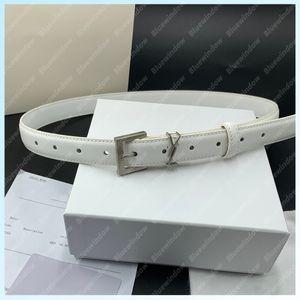 Letter Belt Women Belts Womens YS Letter Waistband 2.5CM Mens Luxury Designer Belt Men Genuine Leather Cintura Ceinture Homme Pour B2105131L