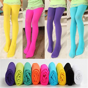 New Girls Tights Pantyhose Leggings Stockings Opaque Colour Girls' Velvet Panty-hose Girl Tights Kids Candy Color Cute Leggings Girl Socks