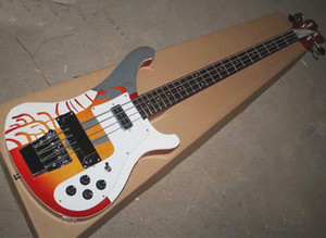 Free Shipping 12 pieces electric bass,2 natural,2 red burst,2 black,3 striped,3 carved(one 3 pickups+two 4 pickups)