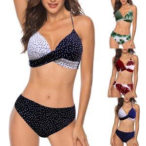 Sexy Bikinis Solid Push Up 2021 Hot Sale Womens Padded Push-up Bra Bikini Set Swimsuit Bathing Suit Swimwear Beachwear