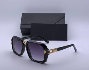Vintage Square Sunglasses 6004 Black Gold Grey Shaded Pilot Sunnies Men Fashion Sunglasses UV400 Protection Shades With Box