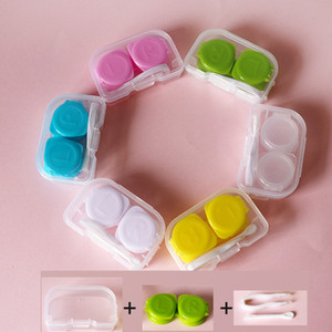 FREE SHIPPING 7-10days will arrive to USA Contact Lenses Box Contact Lens Case Color Double-Box Contact Lens Cases