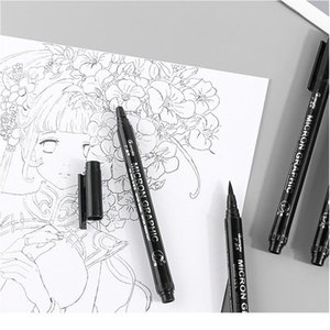 6 9 12pcs Black Pigma Micron Pen Set Fine Needle Pen Comic Drawing Pen Hook Line Stroke Hand-painted Soft Ti jllCwP