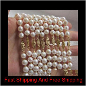 Wholesale 10 Piece 8-9Mm South Seas White Pearl Bracelet 7.5-8Inch 14K Gold Clasp U3Z0O Pdefi