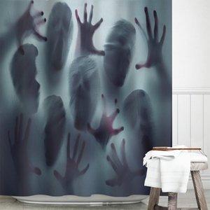 Curtain & Drapes Halloween Horror Zombie Heat Transfer Shower Polyester Toilet Bathroom Decorative