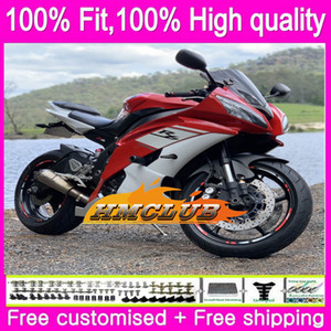 OEM Injection For YAMAHA YZF 600 R 6 YZF-R6 YZF600 Factory Red 84HM.0 YZF-600 YZF R6 YZFR6 08 09 10 11 12 2008 2009 2010 2011 2012 Fairing