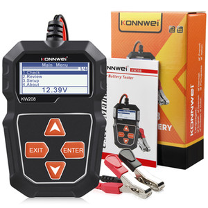 KONNWEI KW208 Car Battery Tester 12V 100 to 2000CCA Cranking Charging Circut Tester Battery Analyzer 12 Volts Battery Tools