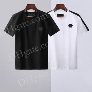 2021 Neue heiße Verkauf T-shirt Männer Shortsleeve Stretch Baumwolle Jersieny T-Shirt Herren Stickerei Tiger Printed Bird Snake Crew Creme T-Shirt # 699