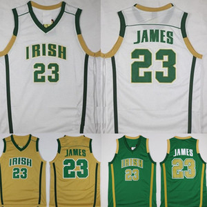 2021 Mens Lebron Jersey James St. Vincent Mary High School Irish 23 Stitched Basketball Camisas