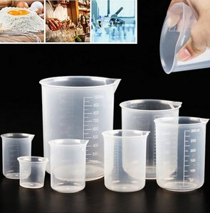 Copo de medição graduado Cup de silicone transparente barra de cozinha suprimentos para cozer copo líquido sem alça de óculos de medição
