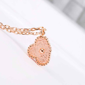 S925 silver special design pendant in mini flower pendant necklace in 18k rose gold plated for women wedding gift jewelry Free Shipping PS8