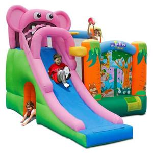 Caseiro inflável elefante elefante slide castelo jardim supplie slides seco com parede de escalada para crianças saltando brinquedos ao ar livre brinquedos interior ao ar livre festa criança