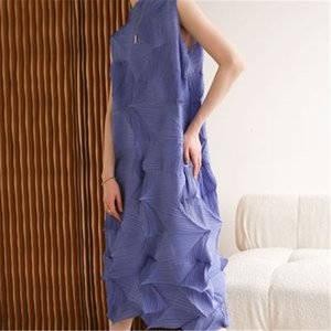 Party Dresses spring fat mm fashion age reduction dress Miyake ruffled clothes irregular gentle wind over the knee long robe KFST