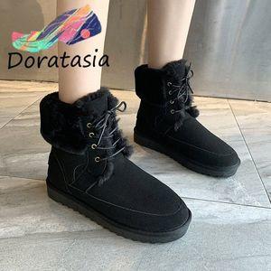 Doratasia Nuovo caldo inverno stivali da neve caviglia donna 2019 comfort antiscivolo stivali da donna zeppe casual scarpe donna 06ru #