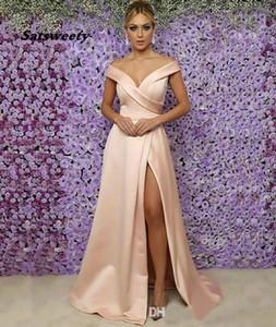 Plus Size Woman Lady Sleeveless Off-Shoulder Formal Bridesmaid Dresses Mermaid V-Neck Thigh-High Slits Girl Gown Custom Satin