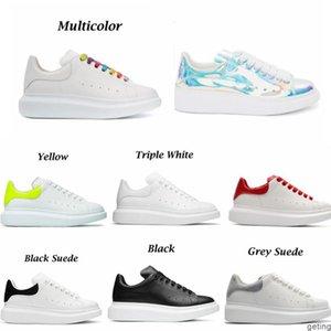 2021 fashion designer white Black shoe High Quality classic suede velvet leather men womens flats platform oversized sneaker shoes