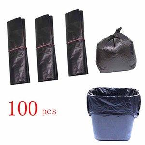 (596A15) Le buste nere di plastica monouso raccolgono la famiglia di sacchetti della spazzatura spesso usata 100 pz