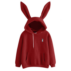 Women's clothing autumn and winter 2019 new loose cute rabbit ear fleece sweater