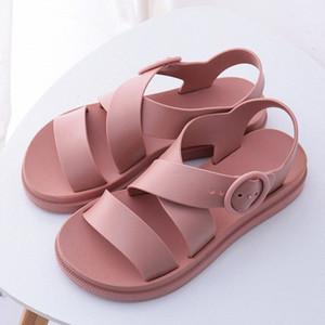 Women Flat Sandals Gladiator Buckle Soft Jelly Sandals Female Casual Women's Flat Platform Woman Beach Shoes Summer Shoes N949#
