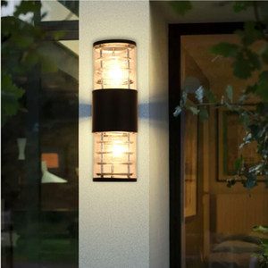 IP65 waterproof wall lamp, for wall, outdoor, flat cover, for garden, wall light, e27, home lighting, socket Irradiate up and down F-W033