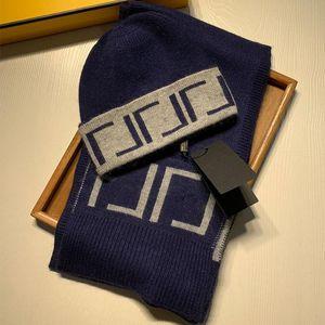 Moda de alta calidad de diseño letra bordado bufanda sombrero hombres y mujeres lana bufanda beanie beanie sombrero bufanda bb bb