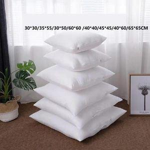 30 * 30/35 * 55/30 * 50/60 * 60/40 * 40/45 * 45/40 * 60/65 * 65 cm Almofada sólida Cursos de cintura de cabeça travesseiro interno de enchimento de enchimento de algodão pp