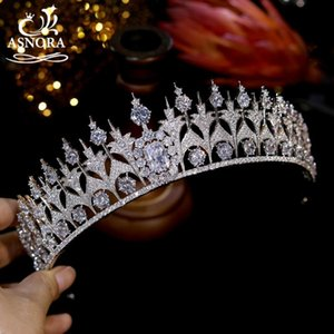 Hair Clips & Barrettes European Royal Princess Crown Luxury CZ Bridal Headdress Wedding Accessories Party Engagement Jewelry A00913