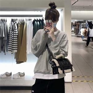 Fashion Fur bag women jumbo capacity totes handbag black pu leather Shoulder Messenger sheep fur bag 2020 winter new deisgner C0224
