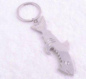 Fashion 2 in 1Creative Fish Keychain Beer Keyring Can Openers Shark Shape Bottle Opener