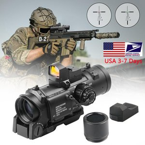 سريع انفصال التكتيكية 1X-4X ثابت الدور المزدوج البصر البصرية نطاق مع مصغرة حمراء النقطة نطاق rmr ل بندقية الصيد الادسنس اطلاق النار