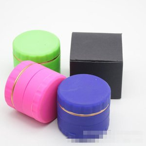Silicone Dia 63mm 4 Layer herb Grinder Smoking Accessories Tools Case Aluminum Alloy Abrader Metal Tobacco Spice Crusher