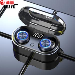 New TWS Bluetooth5.0 Headset TWS Bluetooth Earphones Mini Earbuds IPX7 Stereo Bass Stereo Sport Earset Handsfree Headphones TW80