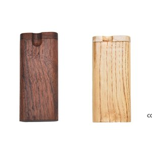 Wooden Cigarette Case Outdoor Portable Walnut Tobacco Storage Box Household Smoking Accessories DHF9128