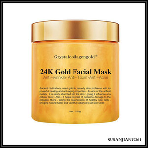 Epack Grystal Collagen 골드 여성의 얼굴 마스크 24K 골드 콜라겐 껍질 벗은 얼굴 마스크 얼굴 피부 모이스춰 라이징 퍼밍