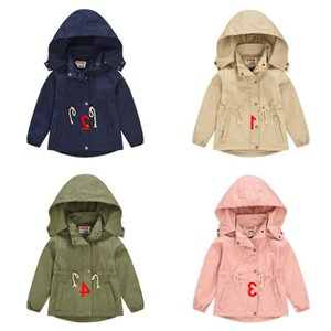 New jackets oblique Kids 4 coats removable children solid baby color hoodies outwear Tench boys fashion pockets Christmas designer coat Gxox