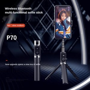 P70 3 In 1 Wireless Bluetooth Selfie Stick Portable High Quality Remote Control for Android Headphone Live Holder Tripod