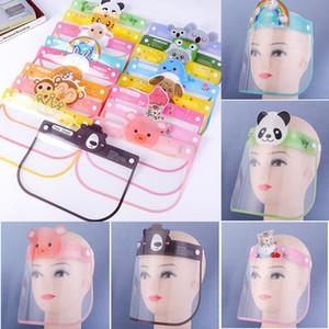 Child Shield Mask Kids Face Anti Spitting Isolation Full Protective Masks Visor Plastic TRansparent Children Facial Protection Mask