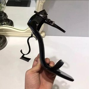 Top élégant ligne boucle boucle style exquis talon talon sandales dames confortables talons hauts mode de luxe de luxe femmes chaussures