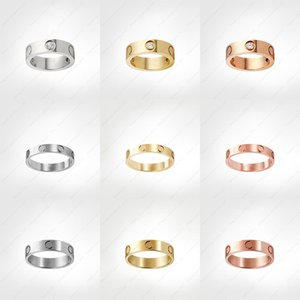 love screw ring mens rings classic luxury designer jewelry Titanium steel Alloy Gold-Plated Gold Silver Rose new jewelry