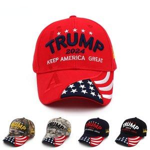 New Donald Trump 2024 Cap USA Baseball Caps Keep America Great Snapback President Hat 3D Embroidery Wholesale Drop Shipping Hats