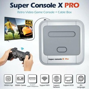 Super Console X-pro HD 4K TV Video Game For PS1 N64 SFC 50+ Emulators 50000+ Games 256GB S905X CPU Game Player